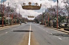 Delamere-Ave-decorated for Princess Margaret visit 1956 Nairobi City, Special Pictures, Princess Margaret, East Africa, Historical Photos, Trippy, Kenya, One Pic, 1990s