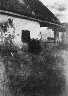 Landscapes / Bauernhaus mit Rosenstrauch 1898