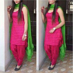 Patiala dress - Cotton Self Design Plain Patiala Suit (Pink) Patiala Suit Designs, Salwar Designs, Kurta Designs Women, Kurti Neck Designs, Kurti Designs Party Wear, Blouse Designs, Plain Kurti Designs, Punjabi Suit Neck Designs, Party Wear Gown Images