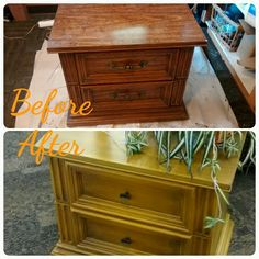 Oak night stand up-cycle