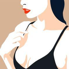 Ionuţ Vancea on Behance Japon Illustration, Woman Illustration, Digital Illustration, Art Pop, Affinity Designer, Guache, Vector Portrait, Cute Drawings, Art Inspo