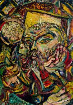 'In Homage to Vincent (Self Portrait)', Philip Clairmont Australian Art, Level 3, Art Auction, Figurative, New Zealand, Artists, Portrait, Painting, Men Portrait