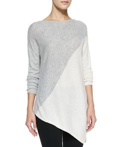 Asymmetric Colorblocked Pullover Sweater by Alice + Olivia at Neiman Marcus.