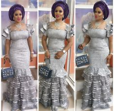 Must See Stylish Aso Ebi Styles You've Never Seen Before - Wedding Digest Naija African Print Fashion, Africa Fashion, Tribal Fashion, African Fashion Dresses, Fashion Outfits, African Attire, African Wear, African Dress, African Clothes