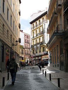Madrid city street photograph