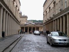 The collonade in Bath where the finale of the 1995 Persuasion was filmed