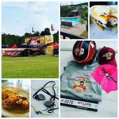 Some scene from my day in Kerrville. Lunch, dinner, the finish line, some of the schwag, the awesome Texas shaped pool, and my new googles and earplugs. My old ones are at the gym in Austin. #oops #nothingnewonraceday #dowhatisaynotasido #kerrvilletri #swedishgoggles #justkeepswimming #evenificantsee #swimbikerun #triathletes #triathletesofinsta #sleepnow