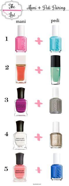 Combinaciones perfectas de Mni & Pedi. Recuerda que en The T'ai Spa podemos realizarte mani y pedi. #nails #colors #mani #pedi #thetaispa