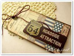 『旅に行くように、チケットのようなカードを / 「夕焼け空」と「月と星」』 http://ameblo.jp/leafleaf-cards/entry-11718248089.html