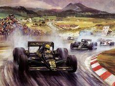 Rain Master Ayrton Senna Lotus
