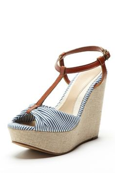 Ciao Bella Talita Wedges - Cute and nautical!!!