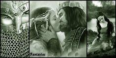 Arwen and Aragorn by ~iteatsbrainsx I blame Tolkien for my high standards! Thranduil, Legolas, Aragorn Und Arwen, Le Couple Parfait, Roi Arthur, King Arthur, Elfa, O Hobbit, Into The West
