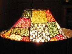 pounce!: Crochet lampshade