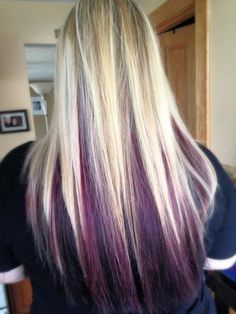 Purple and blonde! More