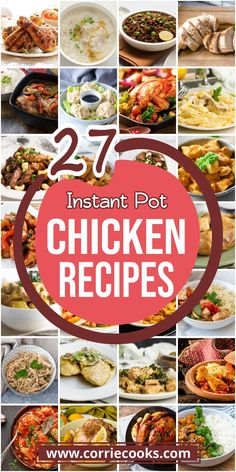 If you like chicken don't miss these Instant Pot chicken recipes! Find a huge collection of delicious dishes including chicken wings, orange chicken, frozen chicken and even one pot meals like chicken alfredo. New Pressure Cooker, Best Pressure Cooker Recipes, Pressure Cooker Chicken, Instant Pot Pressure Cooker, Slow Cooker, Best Instant Pot Recipe, Best Chicken Recipes, Frozen Chicken, Orange Chicken