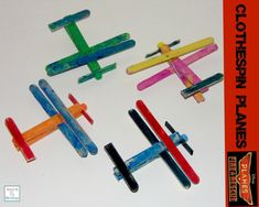 Clothespin Planes -- just in time for Disney's new movie Planes: Fire & Rescue http://mamato5blessings.com/2014/07/clothespin-planes-learn-link-linky/