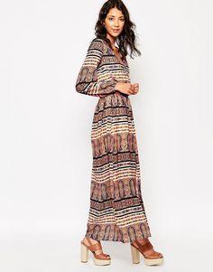 Influence+Long+Sleeve+Boho+Maxi+Dress