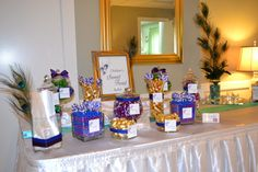 Candy Buffet  Peacock Themed