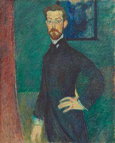 amedeo modigliani(1884-1920), portrait of dr. paul alexandre, 1909. oil on canvas, 100.5 x 81.5 cm. tokyo fuji art museum, japan http://www.fujibi.or.jp/en/our-collection/profile-of-works.html?work_id=1212
