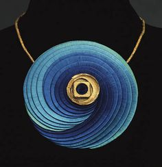 silk jewelry by Sonja Hahn Ekberg. Here Förhoppningarnas planet (Planet of the hopes). Photo: Rolf Lind