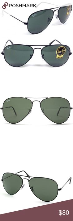ray ban rb3025 iconic aviator sunglasses black  new ray ban aviator sunglasses black g 15 58 mm ray ban rb3025
