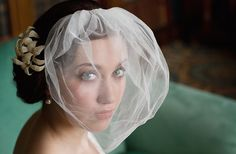 Cute, I'd never thought of just pinning a veil to the front for the ceremony!