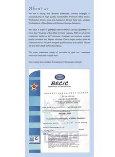 ISO 9001:2008 Certified Company - Asian Chair Craft