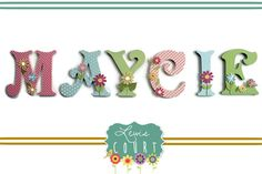 Daisy Garden Themed Personalized Children's Wood by LewisCourt