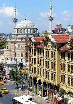 Laleli Masjid in Istanbul, Turkey.