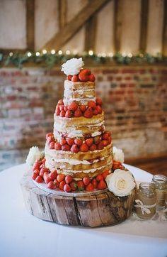 Naked wedding #Wedding Cake  http://specialweddingcakeforyou90.lemoncoin.org