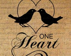 Two Souls One Heart Text Birds Heart Word Digital Image Download ...