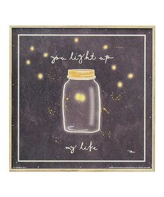 Another great find on #zulily! 'Light Up My Life' Wall Art #zulilyfinds