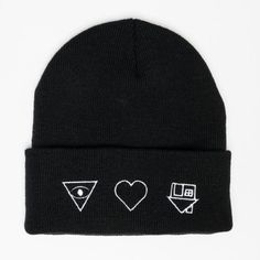 """Symbols"" Beanie I will literally cry if someone gets me this because I want it with all my heart. I love the NBHD so much!!!!!!!!!!!"