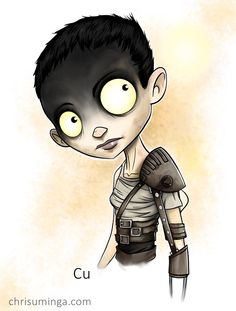 Loved her design. Furiosa from Mad Max . Sketchbook Pro