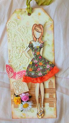 Raelma Mousinho Crafts and fun: Prima Doll tag using two stamps: Marisol and Colle...