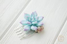 Blue Purple Succulent Planter Small Succulent Comb by EtenIren
