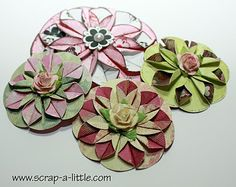 SCRAP A LITTLE!: Tutorial for simple dahlia flowers
