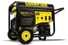 The Champion Power Equipment 100219 7500 Watt Portable Generator is designed with your safety and convenience in mind. Owning this 7500 Watt generator means the next time there's an outage, the power Electric Start Generator, Gas Powered Generator, Portable Power Generator, Modem Router, Thing 1, Flat Tire, Extension Cord, Outdoor Power Equipment, Remote