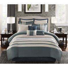 Madison Park Harlem 12-Piece Jacquard Comforter Set - 16815319 - Overstock Shopping - Great Deals on Madison Park Comforter Sets