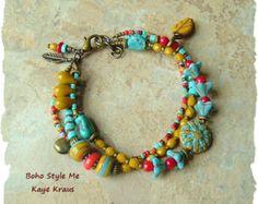 Collar Hand Knotted de abalorios de joyería bohemio