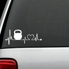 K1020 Kettlebell Fitness Heartbeat Lifeline Decal Sticker