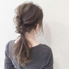 【2019年】結婚式お呼ばれ髪型決定版♪ ボブからロングまで人気ヘアアレンジ&マナー | みんなのウェディングニュース I Like Your Hair, Cut My Hair, Hair Cuts, Bride Hairstyles, Hairstyles For School, Easy Hairstyles, Japanese Hairstyles, Bridal Ponytail, Bridal Hair