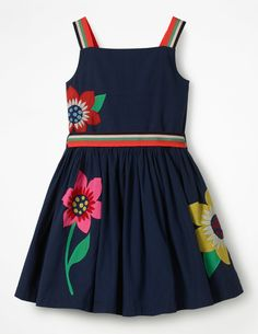 d7fe51ae9 Bright Appliqué Dress Going Home Outfit, Little Baby Girl, Applique Dress,  Tween Fashion
