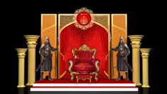 Micromax - Royal india on Behance Stage Set Design, Set Design Theatre, Event Design, Ganpati Decoration Ideas Thermocol, Decoration For Ganpati, Royal Theme, Wall Panel Design, Indian Theme, Temple Design