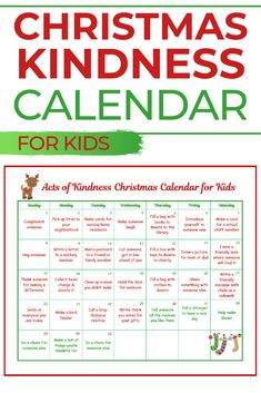 This random acts of kindness Christmas calendar is designed just for kids! What a great way to show kids that you're never too young to make a positive impact. Christmas Calendar, Kids Calendar, Kids Christmas, Blank Calendar, Christmas Games, Christmas 2017, Xmas, Kindness For Kids, Interactive Bulletin Boards