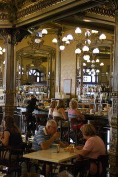 Pamplona; Plaza del Castillo, Cafe Iruna  Navarra  Spain