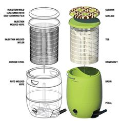 giradora foot-powered washer and spin dryer