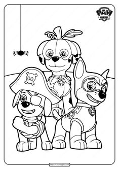 Paw Patrol Coloring Pages, Free Coloring Pages, Coloring Books, Kids Craft Box, Crafts For Kids, Photo Displays, Happy Halloween, Cartoon, Lucca
