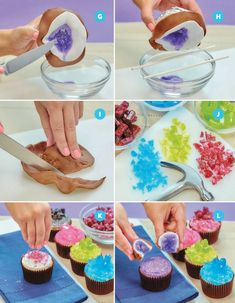 Cake of the Day: Geode Candy Cupcakes from 'Nerdy Nummies' Nerdy Nummies Cookbook, Irish Cake, Buttercream Frosting For Cupcakes, Pinata Cake, Geode Cake, Cupcake Images, Gelatine, Chocolate Fondant, Marzipan