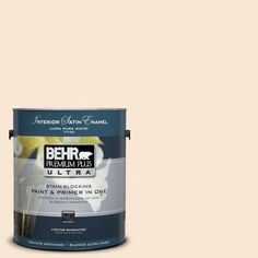 BEHR Premium Plus Ultra 1-Gal. #UL140-12 Cafe Cream Interior Satin Enamel Paint-775001
